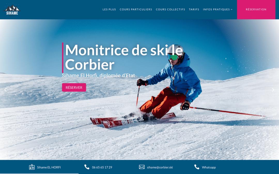 Sihame El Horfi, Monitrice de ski Le Corbier